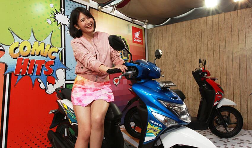 Pilihan Warna Honda Beat Pop 110 Esp 2016 Terbaru Comic Dan Pixel Png Mercon Motor